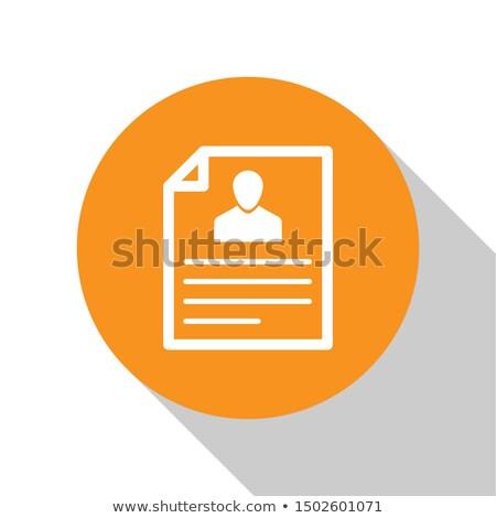 resume icon illustration isolated on white background. Stock photo © kyryloff