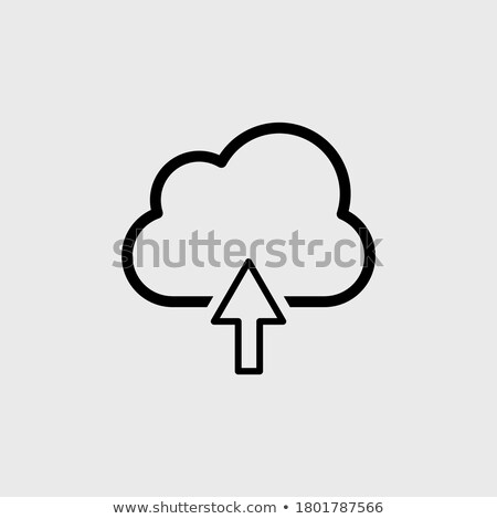 Stok fotoğraf: Linear Database Server Isolated Flat Web Mobile Icon With Share Icon Vector Illustration Isolated