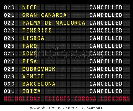 Timetable display in a european airport showing flights departur Stock photo © Photooiasson
