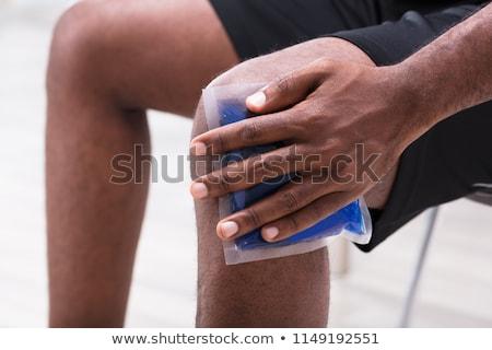 человека льда гель Pack колено Сток-фото © AndreyPopov