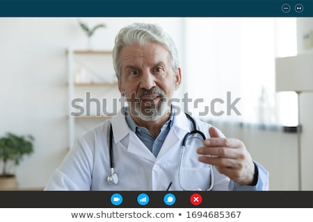 médecin · cardiologue · cardiogramme · coeur · ligne · amour - photo stock © elnur