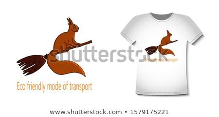 Halloween eekhoorn banner cute gelukkig wildlife Stockfoto © Lightsource