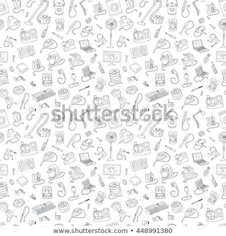 ev · aletleri · simgeler · ince · hatları · ayarlamak · farklı - stok fotoğraf © kup1984