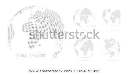 Stock photo: Set of Earth globe on white background,  vector