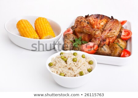 meat corn potatoes barbecue stock photo © romvo