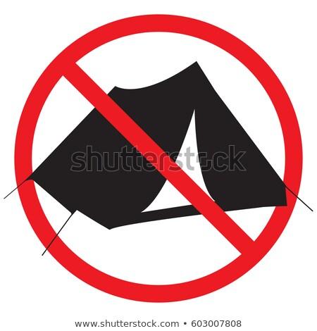 Stockfoto: Geen · camping · teken · symbool · icon · witte