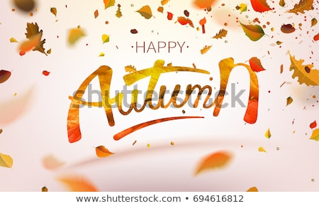 flying autumn leaves stock photo © kostins