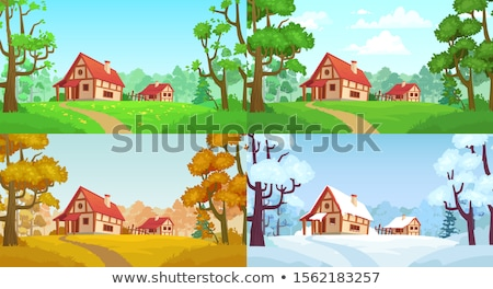 Village in the Woods Stock photo © craig