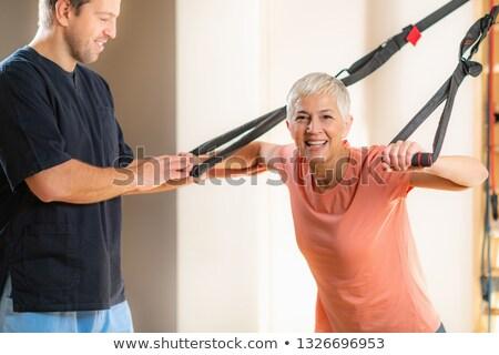 Paciente altos establecer mujeres ejercicio Foto stock © toyotoyo