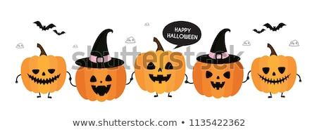 halloween pumpkin in hat stock photo © studiostoks