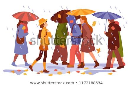 guarda-chuvas · ilustração · voador · tempestade · guarda-chuva · desenho - foto stock © pikepicture