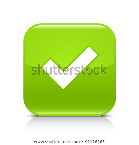 Illustration of check mark icon in square, vector illustration isolated on black background. stock photo © kyryloff