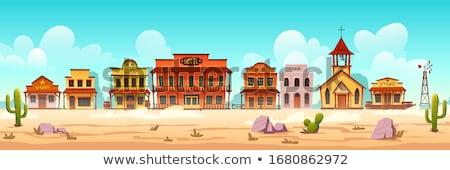 Karikatür Teksas örnek gülen mutlu grafik Stok fotoğraf © cthoman