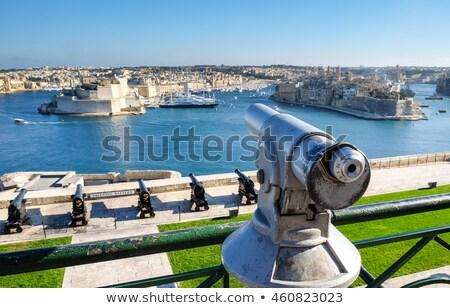 ver · cidade · velha · Malta · porto · edifícios · urbano - foto stock © boggy