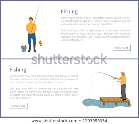 Fishing Posters Set Headlines Vector Illustration Stock photo © robuart