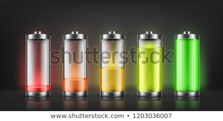 glänzend · Batterie · vier · detaillierte · Ebene · Anzeige - stock foto © marysan