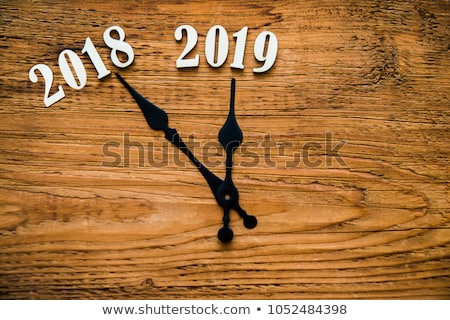 2018-2019 Clock dial Stock photo © Oakozhan