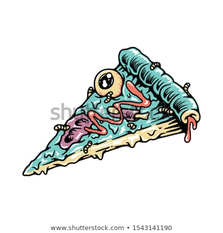 aç · karikatür · zombi · örnek · bakıyor · adam - stok fotoğraf © cthoman