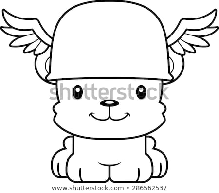 Cartoon Smiling Hermes Bear Stock photo © cthoman