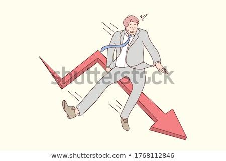 Bać cartoon arrow ilustracja patrząc graficzne Zdjęcia stock © cthoman