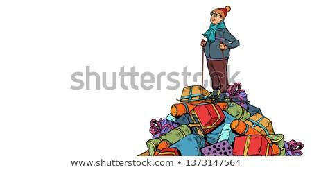 Рождества продажи торговых подарки лыжник Сток-фото © studiostoks