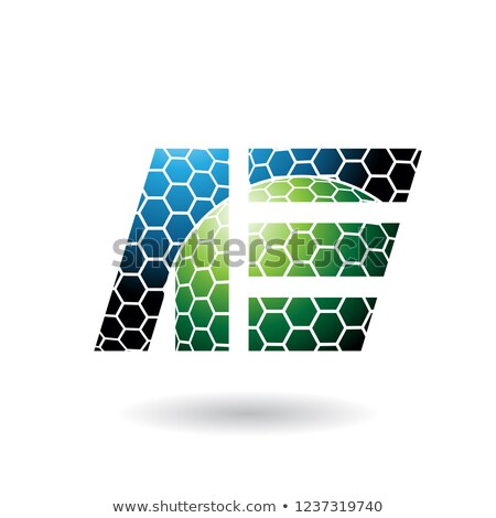 Mavi yeşil petek model vektör Stok fotoğraf © cidepix