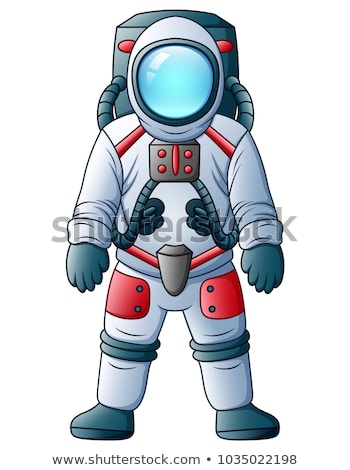 kid in astronaut outfit on white background stock photo © colematt