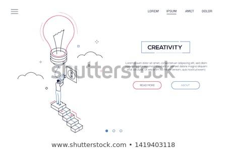sikeres · startup · internet · oldal · illusztráció · tele - stock fotó © decorwithme