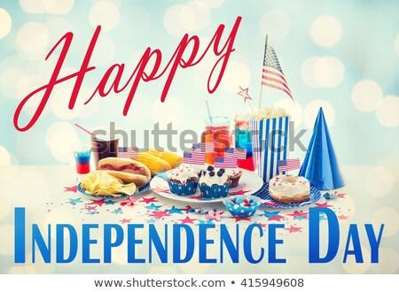 fánk · dzsúz · cukorkák · nap · amerikai · ünneplés - stock fotó © dolgachov