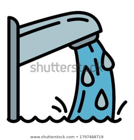 nadar · mulher · colchão · piscina · flutuante · amarelo - foto stock © robuart