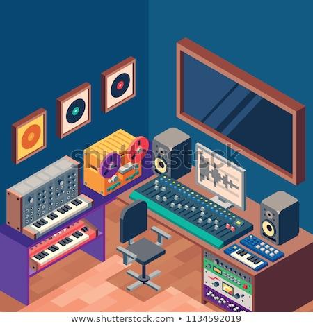 ses · ses · ekipmanları · müzik · grup · kayıtlar - stok fotoğraf © tele52