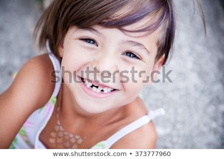 Meisje vermist tand mooie tonen Stockfoto © JamiRae