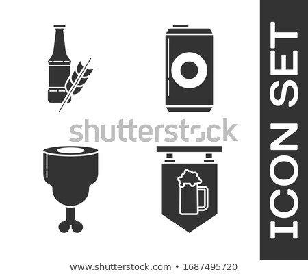 bier · frisdrank · aluminium · kan · vector · sjabloon - stockfoto © robuart