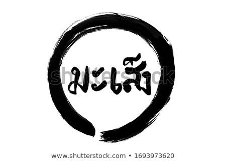 serpente · cinese · astrologia · calligrafia · pittura · zodiaco - foto d'archivio © natalia_1947