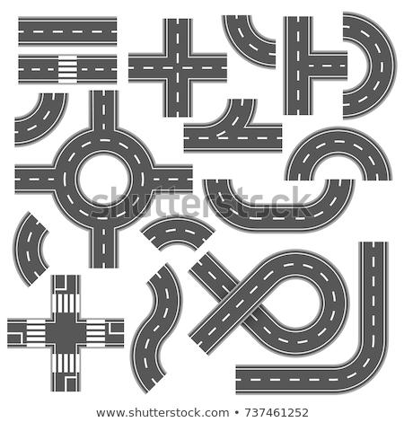 Foto stock: Círculo · carretera · carretera · vector · icono · ilustración