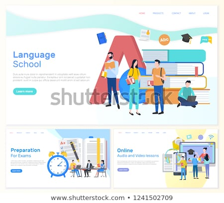 Language School, Preparation for Exams Students Stock photo © robuart