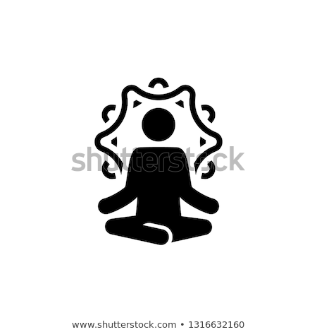 Yoga Retreat and Meditation Icon. Flat Design Isolated Illustration. Stock photo © WaD