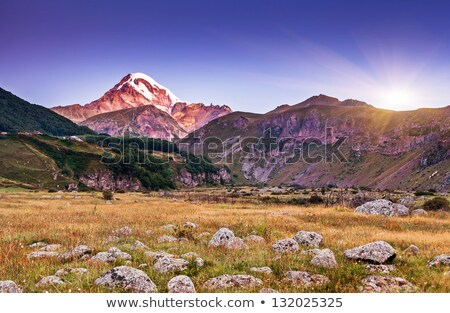 Berg landschap mooie zonlicht Georgië Stockfoto © Kotenko