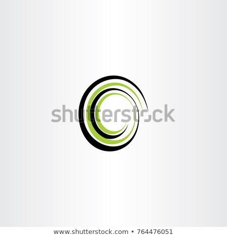 Logo zielone czarny spirali wektora Zdjęcia stock © blaskorizov