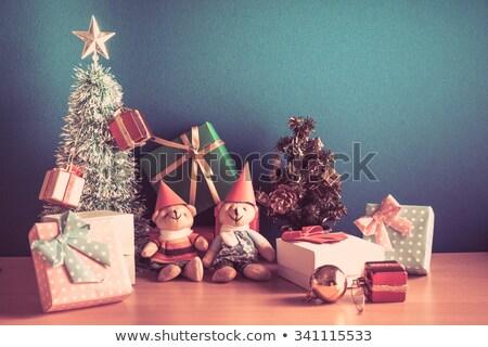 Christmas rendier gelukkig achtergrond kunst dier Stockfoto © colematt