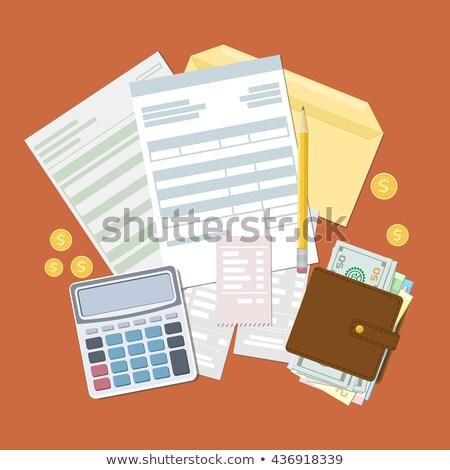 Ikona papieru banku dokumentu złoty monety Zdjęcia stock © ussr