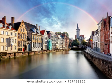 landschap · regenboog · boom · water · natuur · zomer - stockfoto © colematt