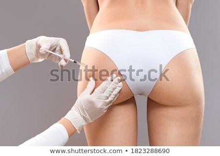 尻 · 若い女の子 · 草 · 少女 · セクシー · 戻る - ストックフォト © hlehnerer