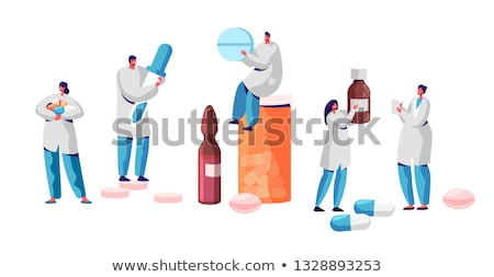 vector set of pharmacist and medicine Stock photo © olllikeballoon