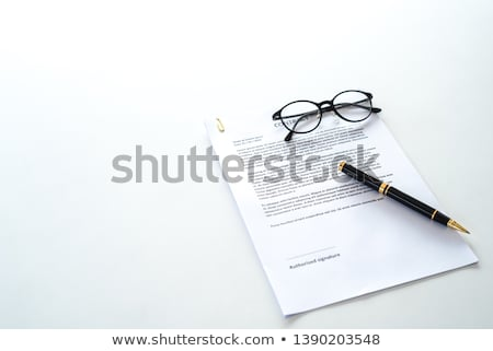 Empty Sheet Paper Signature Office Page Isolated Stock photo © robuart