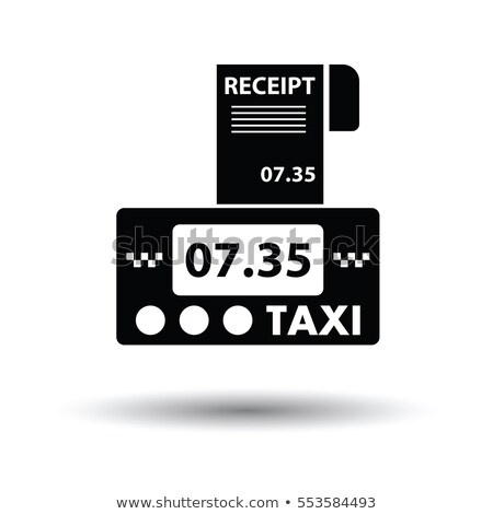 Taxi meter with receipt icon Stock photo © angelp