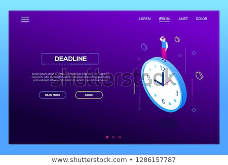 deadline concept   modern isometric vector website header stock photo © decorwithme