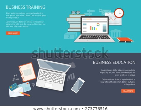 Content management - modern flat design style colorful web banner Stock photo © Decorwithme