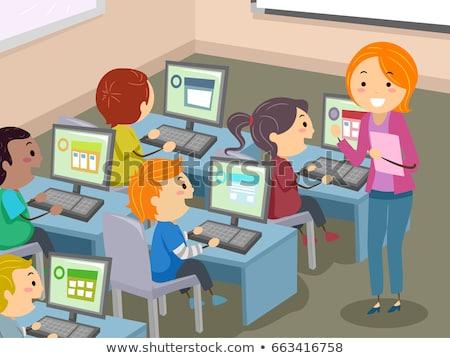 Codifica lezioni programmazione computer vettore set Foto d'archivio © robuart