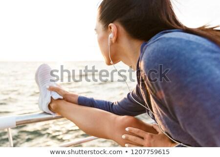 Incroyable fort sport femme Photo stock © deandrobot